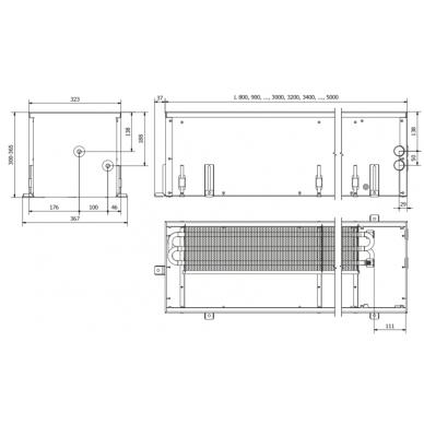 Įleidžiamas grindinis konvektorius FC 80x32x30 2