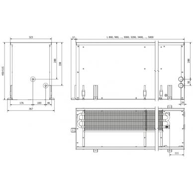 Įleidžiamas grindinis konvektorius FC 80x32x45 2