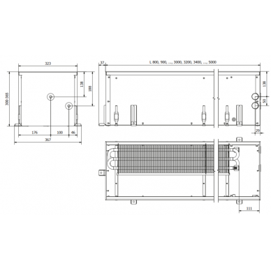 Įleidžiamas grindinis konvektorius FC 90x32x30 2