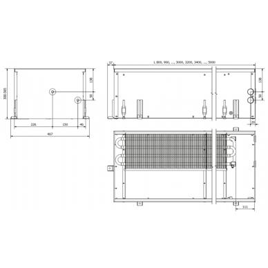 Įleidžiamas grindinis konvektorius FC 90x42x30 2