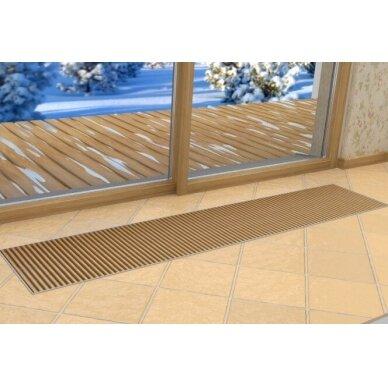 Įleidžiamas grindinis šildymo/vėsinimo konvektorius su vėdinimo pajungimu FCHV 250x36x16