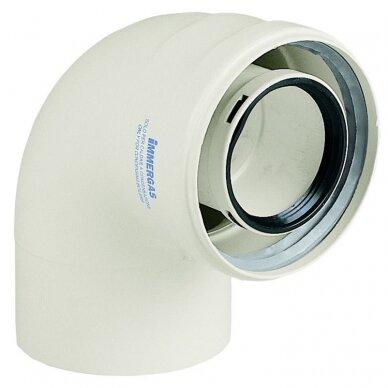 Immergas kamino alkūnė 90° kondensaciniam katilui d60/100 su rezervine skyle