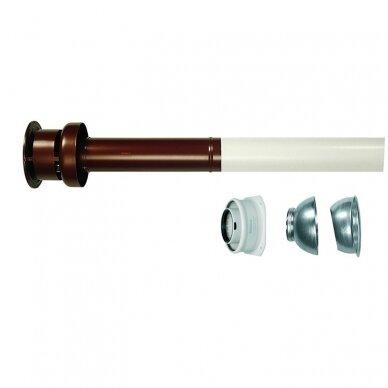 Immergas koncentrinis vertikalus perėjimo per stogą komplektas kondensaciniam katilui d60/100