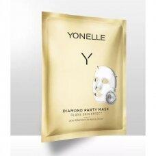 Intensyvaus poveikio gavinamoji veido kaukė Yonelle Diamond 1vnt