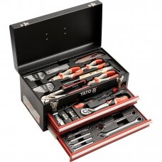 Įrankių rinkinys su metaline dėže ir stalčiais Yato 80 vnt. (YT-38951)