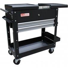 Įrankių spintelė BGS-technic, 2 stalčiai, horizontalus dvigubas stalčius, tuščias