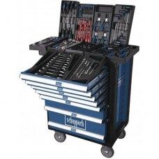 Įrankių spintelė - vežimėlis SCHEPPACH TW 1000 (7 stalčiai, 263 vnt.)