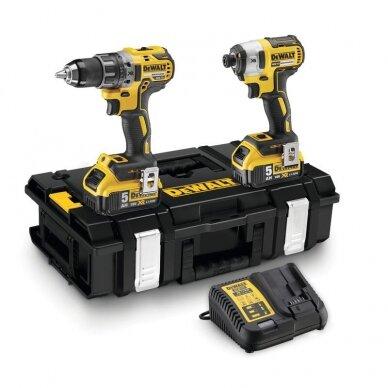 Įrankių rinkinys DeWalt DCK266P2-QW 18V 2x5Ah