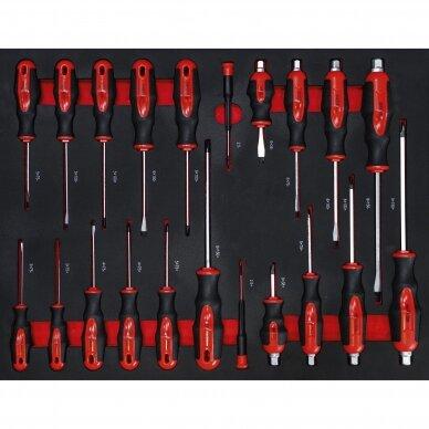 Įrankių spintelė ant ratukų BGS, 7 stalčiai, su įrankiais 250 vnt. 5