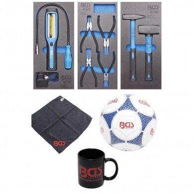 Įrankių spintelė BGS-technic, 7 stalčiai su 120 įrankių 5