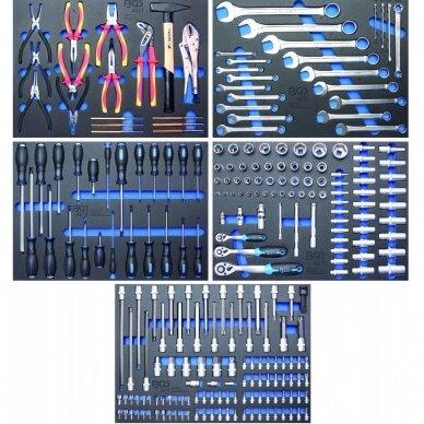 Įrankių spintelė BGS-technic, 7 stalčiai su 243 įrankiais 4