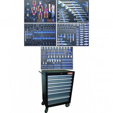 Įrankių spintelė BGS-technic, 7 stalčiai su 243 įrankiais 6