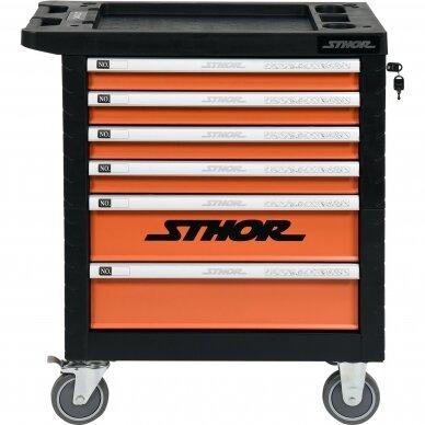 Įrankių spintelė Sthor 302 įrankiai, 6 stalčiai (58550) 2
