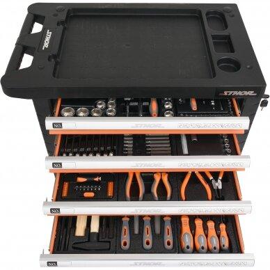 Įrankių spintelė Sthor 302 įrankiai, 6 stalčiai (58550) 5