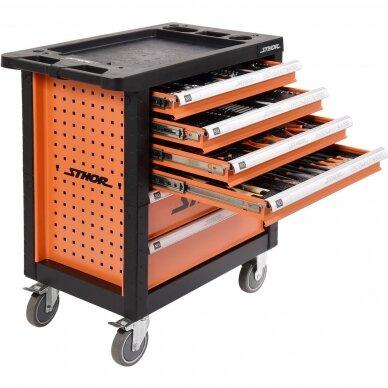 Įrankių spintelė Sthor 302 įrankiai, 6 stalčiai (58550)