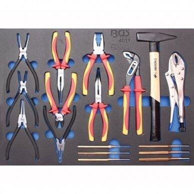 Įrankių spintelė su ratukais BGS-technic Pro Standard Max, 12 stalčių, su 296 įrankiais 7