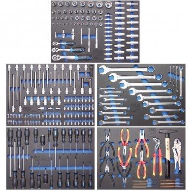 Įrankių spintelė su ratukais BGS-technic Pro Standard Max, 12 stalčių, su 296 įrankiais 9