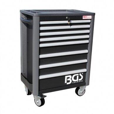 Įrankių spintelė su ratukais BGS-technic Profi Exclusive su 259 įrankiais 2