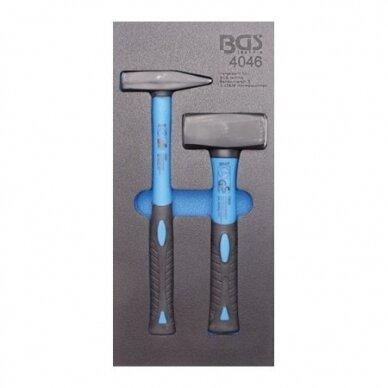 Įrankių spintelė su ratukais BGS-technic Profi Exclusive su 259 įrankiais 19