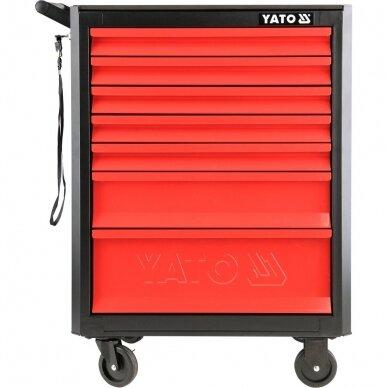Įrankių spintelė su ratukais Yato, 7 stalčiai (YT-09000) 2