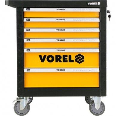 Įrankių spintelė Vorel 177 įrankiai, 6 stalčiai (58540) 2