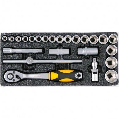 Įrankių spintelė Vorel 177 įrankiai, 6 stalčiai (58540) 11