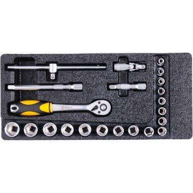 Įrankių spintelė Vorel 177 įrankiai, 6 stalčiai (58540) 14