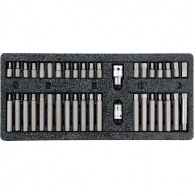 Įrankių spintelė Vorel 177 įrankiai, 6 stalčiai (58540) 15