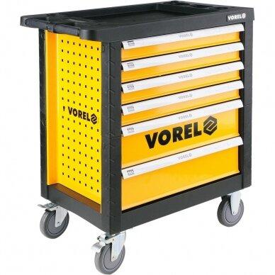 Įrankių spintelė Vorel 177 įrankiai, 6 stalčiai (58540) 3