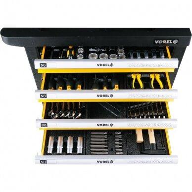 Įrankių spintelė Vorel 177 įrankiai, 6 stalčiai (58540) 4