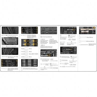 Įrankių spintelė Vorel 177 įrankiai, 6 stalčiai (58540) 6
