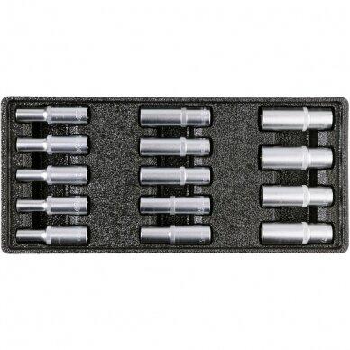 Įrankių spintelė Vorel 177 įrankiai, 6 stalčiai (58540) 7