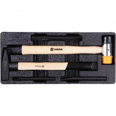 Įrankių spintelė Vorel 177 įrankiai, 6 stalčiai (58540) 8