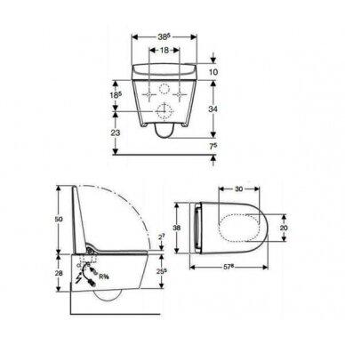 Išmanusis AquaClean Sela WC puodas su apiplovimo funkcija 3
