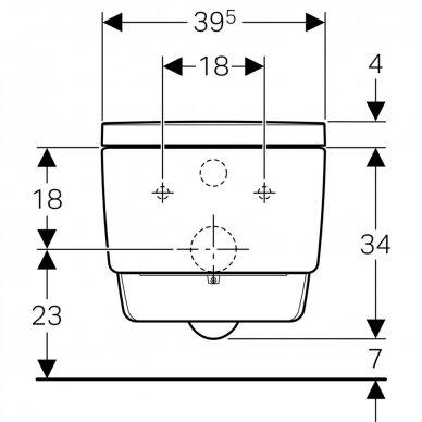 Išmanusis pakabinamas WC Geberit AquaClean Mera Comfort 10