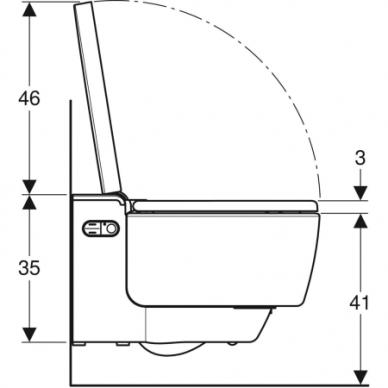 Išmanusis pakabinamas WC puodas Geberit AquaClean Mera Classic 5