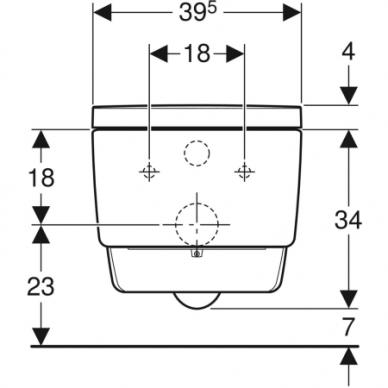 Išmanusis pakabinamas WC puodas Geberit AquaClean Mera Classic 6