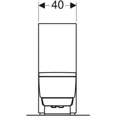 Išmanusis pastatomas WC puodas su išoriniu vandens bakeliu Geberit AquaClean Mera Classic 4
