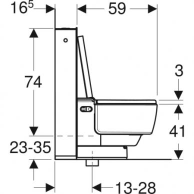 Išmanusis pastatomas WC puodas su išoriniu vandens bakeliu Geberit AquaClean Mera Classic 5