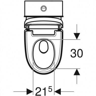 Išmanusis pastatomas WC puodas su išoriniu vandens bakeliu Geberit AquaClean Mera Classic 6