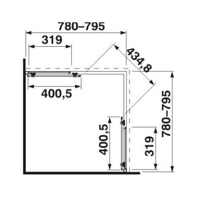 Dušo kabina Jika Cubito Pure 80, 90 cm 2