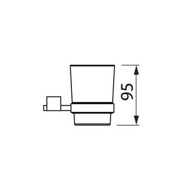 Stiklinė su laikikliu Jika Cubito 2