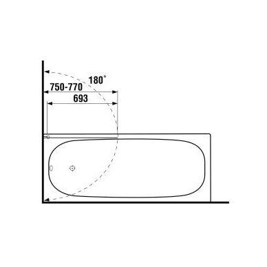 Vonios sienelė Jika Cubito 75 cm 2