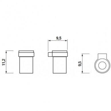 Stikline su laikikliu Jika Pure 2