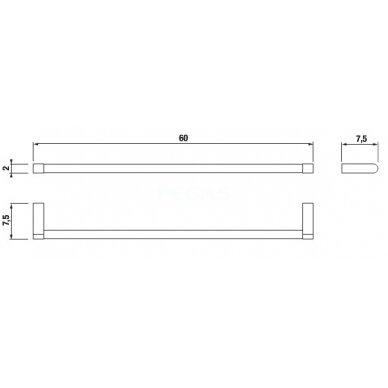 Rankšluosčių kabykla montuojama į sieną Jika Pure 600mm 2