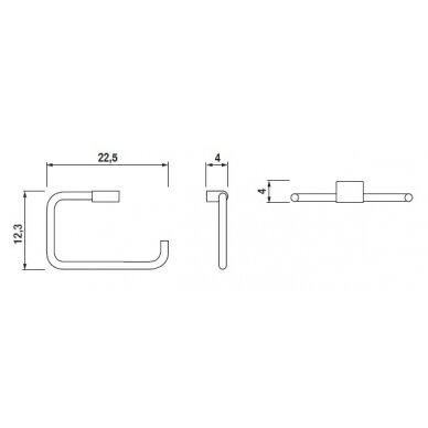 Rankšluosčių žiedinė pakaba Jika Pure 225x125 mm 2