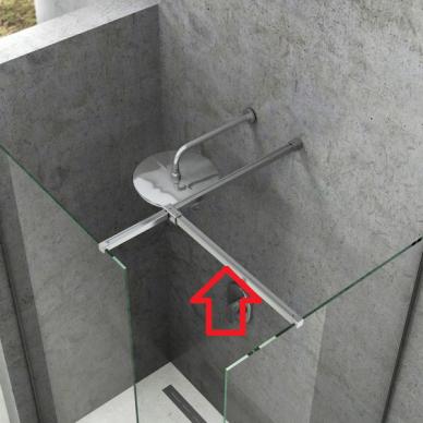 Blizgus jungiamasis statramstis W SET dušo kabinai Ravak Walk-in Double Wall