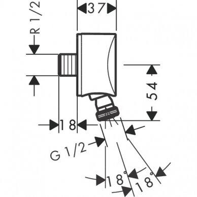 Jungtis Hansgrohe FixFit S 2