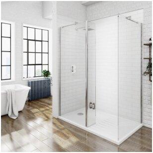 Kaip tinkamai prižiūrėti dušo duris bei sieneles?