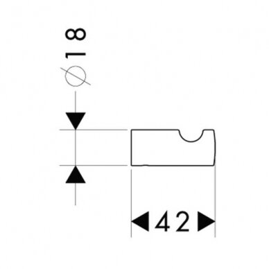 Kabliukas Hansgrohe Logis 2